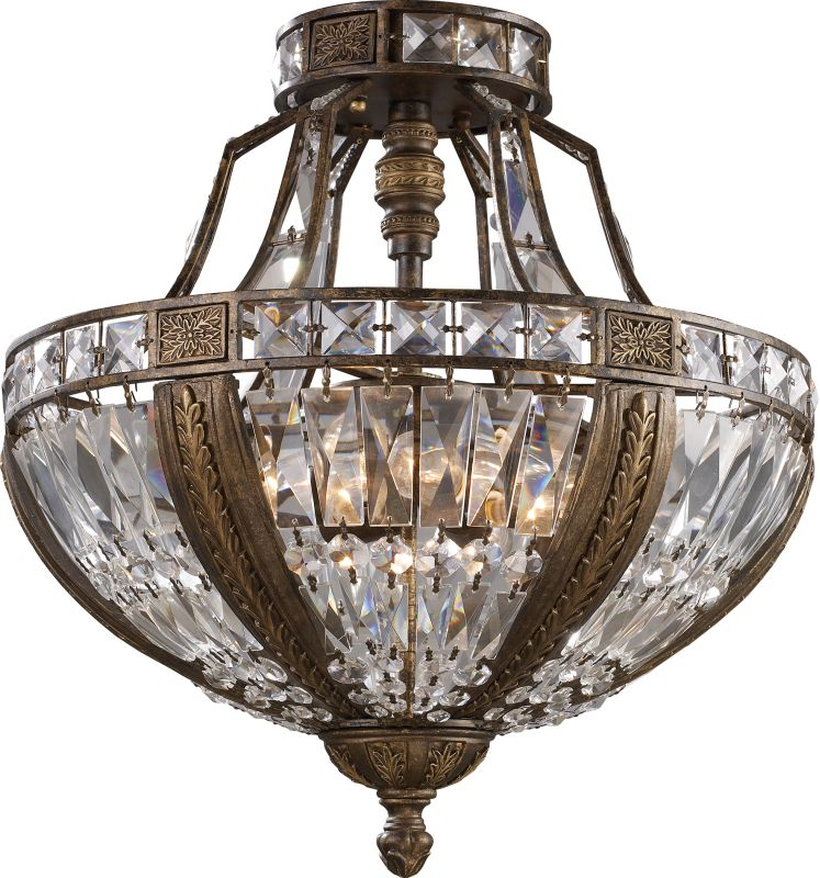 Elk Lighting Online: Elk Lighting 2494/6 Antique Bronze 6 Light Semi Flush