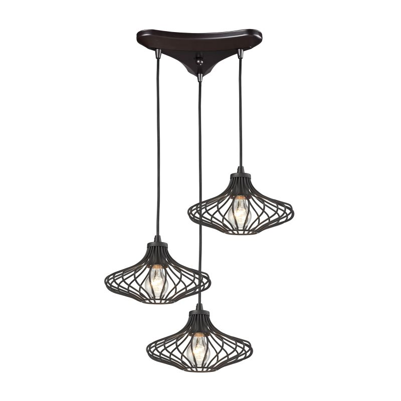 Elk Lighting Yardley: Elk Lighting 14240/3 Oil Rubbed Bronze Yardley 3 Light