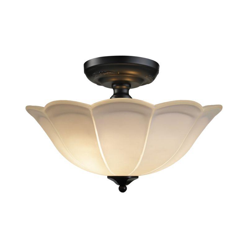 elk lighting 66380 3 matte black 3 light semi flush ceiling fixture