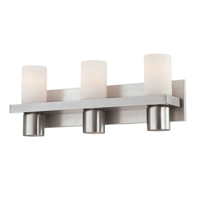 Eurofase Lighting 23278-028 Brushed Nickel Pillar 6 Light Bathroom Fixture with Opal White Glass ...
