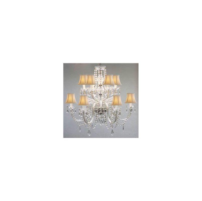 Gallery T40 288 Clear Murano Venetian 12 Light 2 Tier