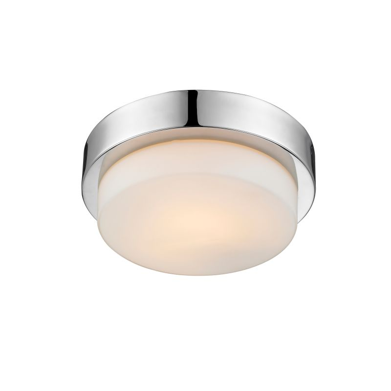 Golden Lighting  Nine Ch Chrome Multi Family In Wide Flush Mount Ceiling Fixture With