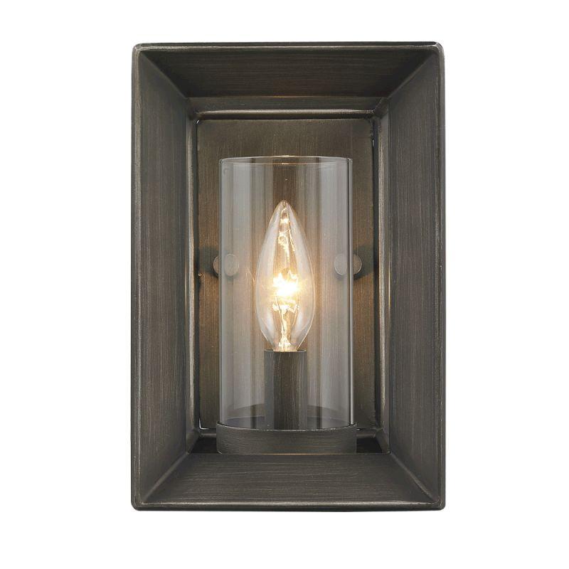 Golden Lighting Three W Gmt Gunmetal Bronze Smyth  Wide Wall Sconce Lightingdirect Com