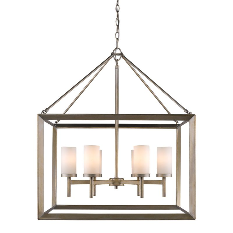 Golden Lighting Three Six Wg White Gold Smyth  Tier Six Five Wide Chandelier
