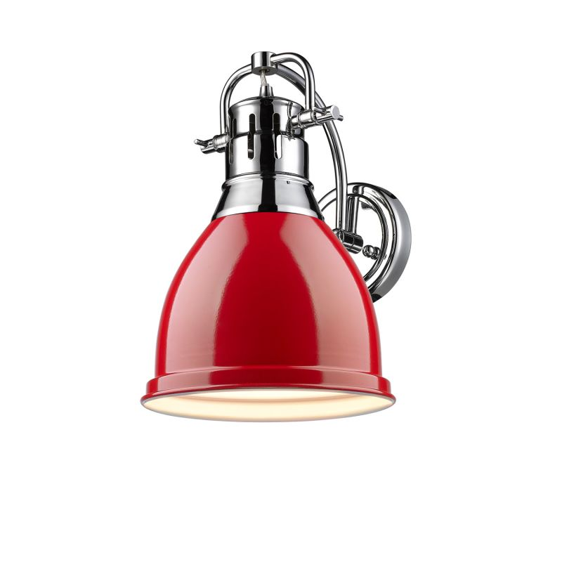 Golden Lighting 3602 1W CH RD Chrome Red Duncan 1 Light