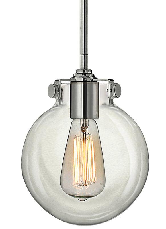 Mini Pendant Light Downrod : Hinkley lighting cm chrome light indoor mini pendant
