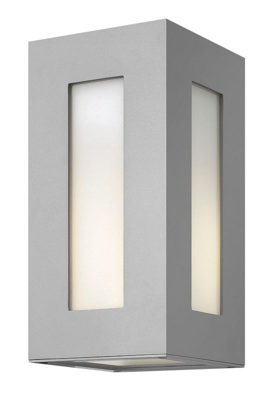 Exterior Wall Sconce Mounting Height : Hinkley Lighting 2190TT-LED Titanium 2 Light 12.25
