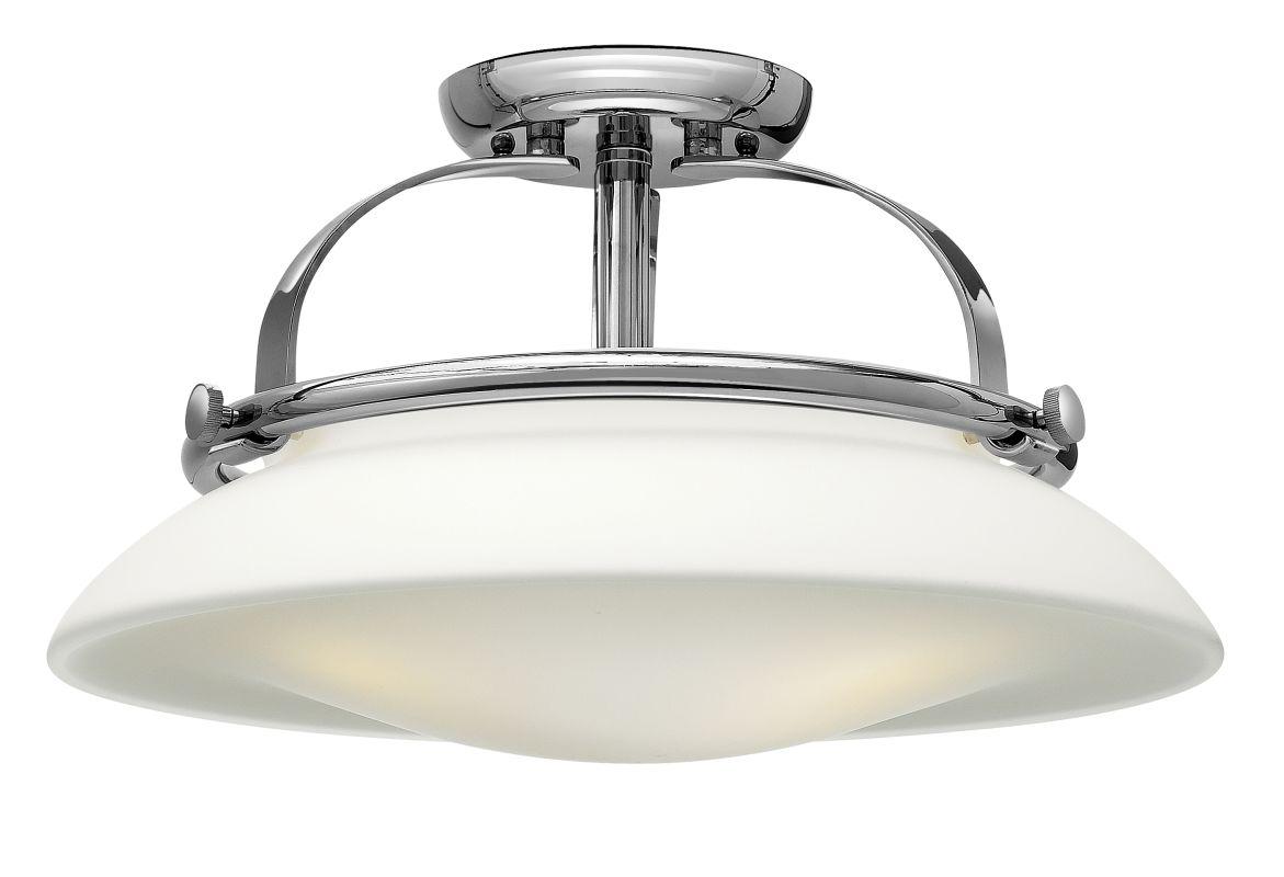 Shop Sea Gull Lighting 3 Light Melody Brushed Nickel: Hinkley Lighting 3321BN Brushed Nickel 3 Light Indoor Semi