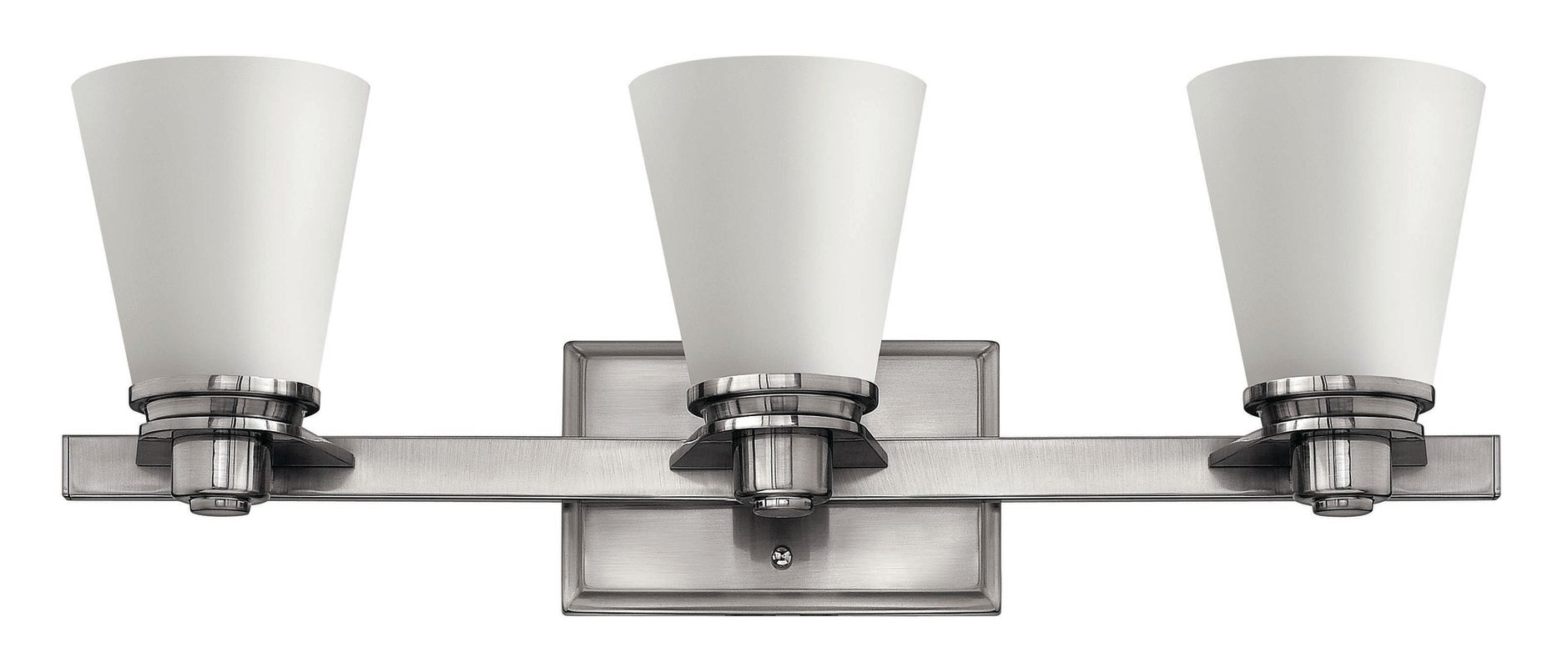 Hinkley lighting 5553bn gu24 brushed nickel 3 light title for Hinkley bathroom vanity lighting