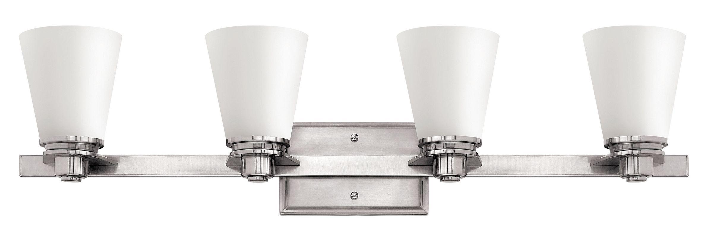 Shop Progress Lighting 4 Light Calven Brushed Nickel: Hinkley Lighting 5554BN-GU24 Brushed Nickel 4 Light Title
