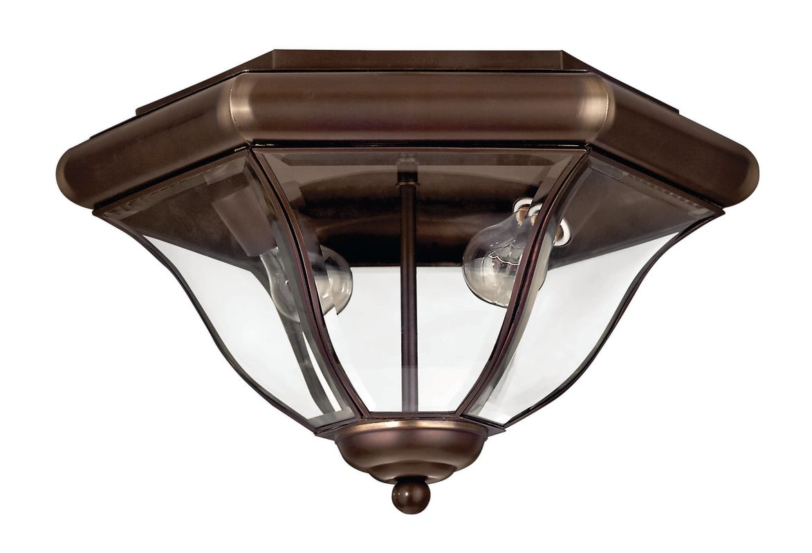 Hinkley Lighting 2443cb Copper Bronze 2 Light Outdoor Flush Mount Ceiling Fixture From The San