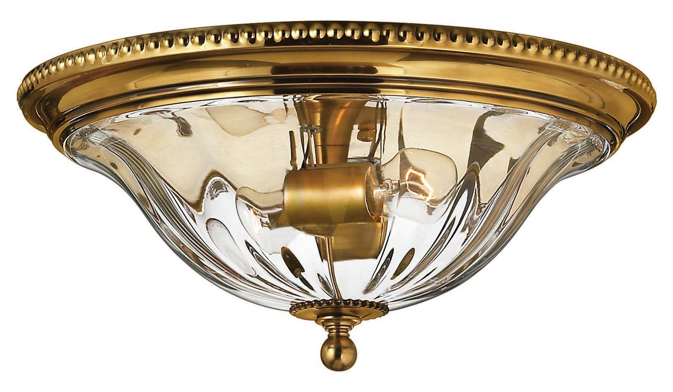 Semi Flush Ceiling Lights Glass Brass Fixture Bathroom: Hinkley Lighting 3616BB Burnished Brass 2 Light Indoor