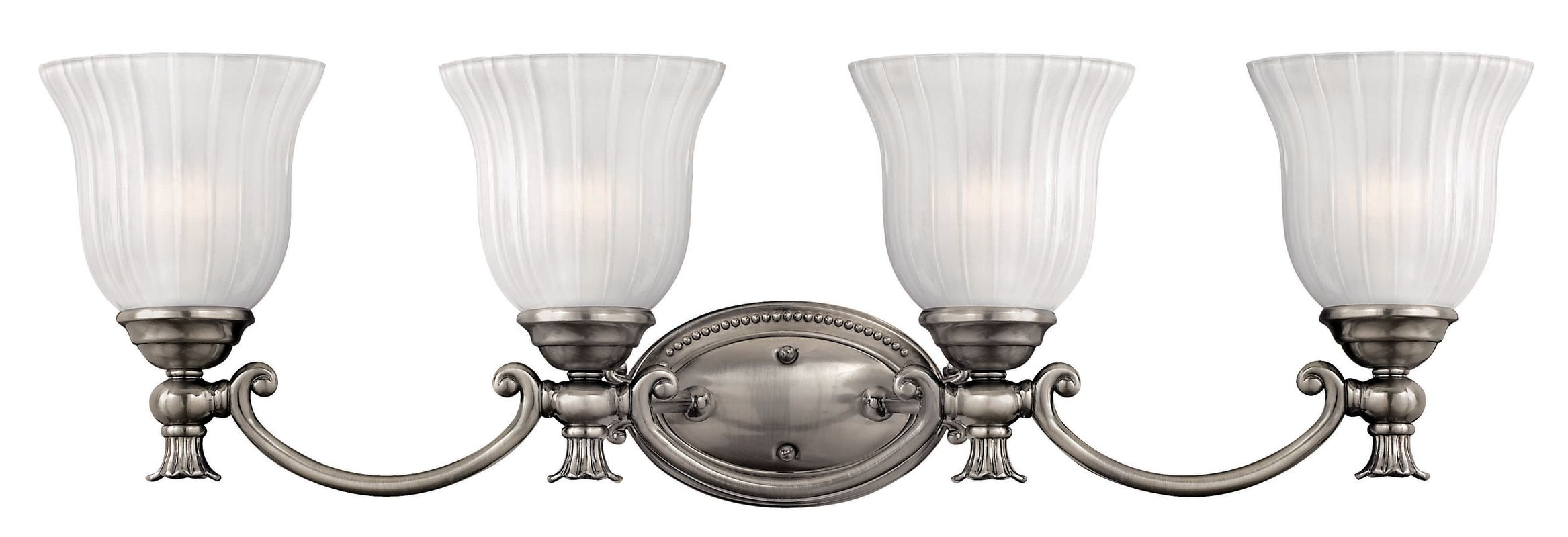 Talista 4 Light Antique Bronze Bath Vanity Light With: Hinkley Lighting 5584PL Polished Antique Nickel 4 Light 30