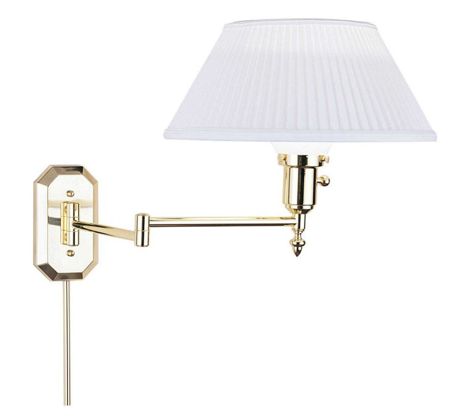 Do You Turn Salt Lamps Off : House of Troy WS-704 Polished Brass Swing Arm Wall Sconce from the Wall Swing Arm Lamps ...