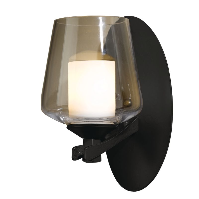 hubbardton forge 204104 10 black direct wire single light up lighting