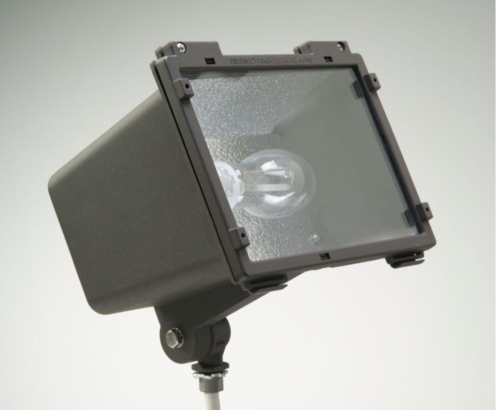 Hubbell Lighting Outdoor F 100H1 Bronze 1 Light 100 Watt