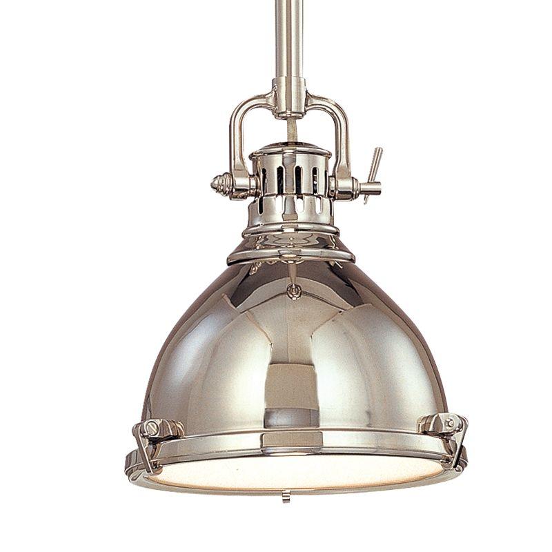 hudson valley lighting 2210 pn polished nickel pelham 1 light cast