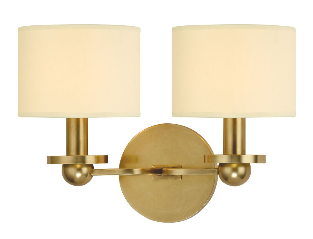 hudson valley lighting 1512 agb aged brass kirkwood 2 light wall. Black Bedroom Furniture Sets. Home Design Ideas