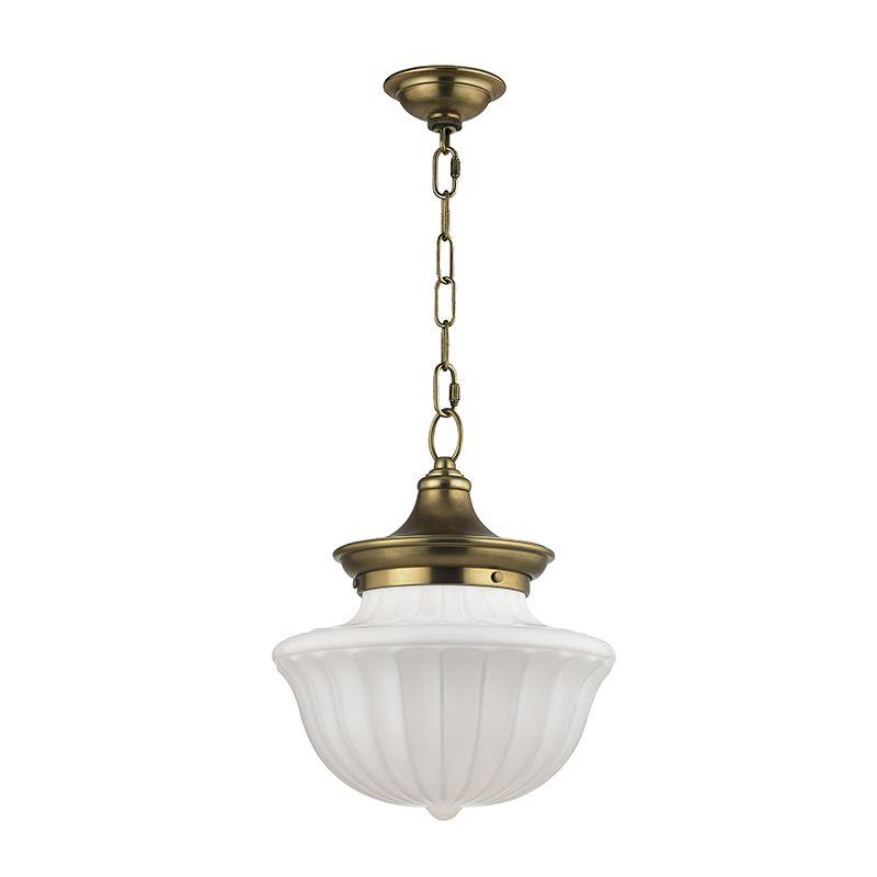 Hudson Valley Lighting Dutchess: Hudson Valley Lighting 5012-AGB Aged Brass Dutchess Single