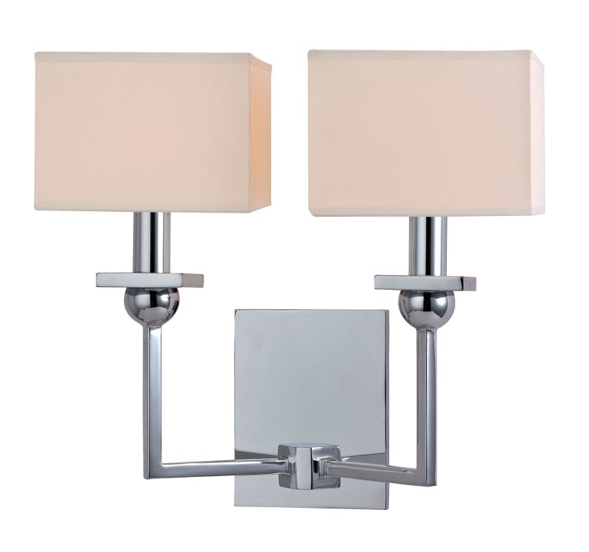 Hudson Valley 4902 Pn Abington 2 Light Wall Sconce In: Hudson Valley Lighting 5212-PC Polished Chrome Morris 2
