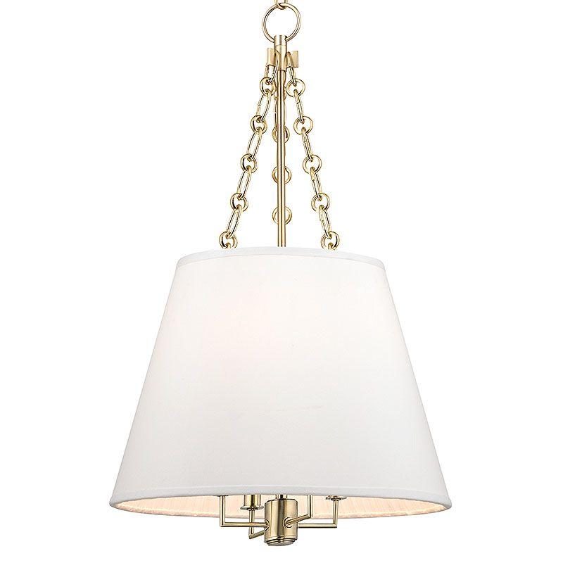 Hudson Valley Lighting Fulton: Hudson Valley Lighting 6415-AGB Aged Brass Burdett 4 Light