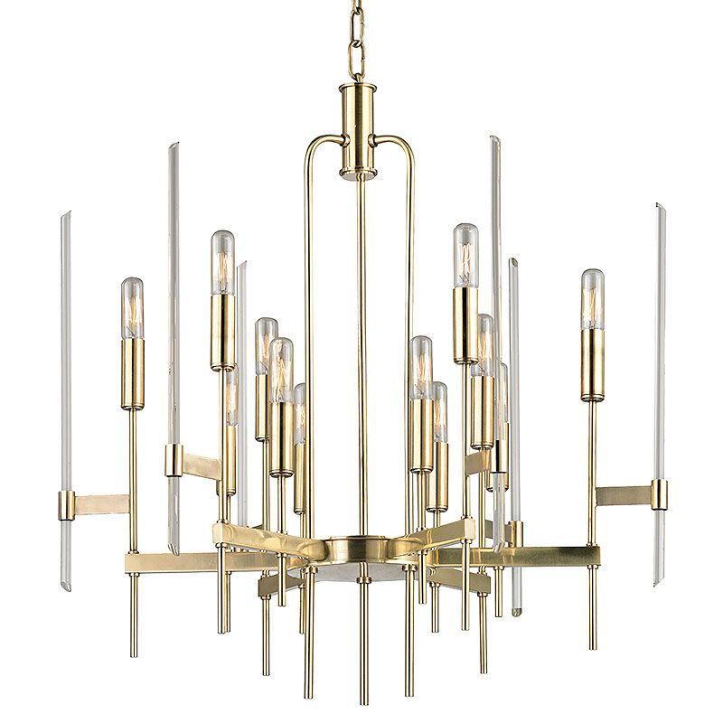 Hudson Valley Lighting Bulbs: Hudson Valley Lighting 9912-AGB Aged Brass Bari 12 Light