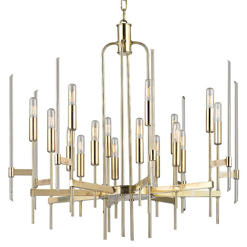 Hudson Valley Lighting Bulbs: Hudson Valley Lighting 9916-AGB Aged Brass Bari 16 Light