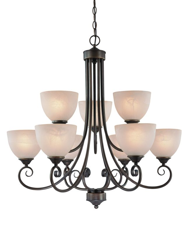 Jeremiah Lighting 25329-OB Old Bronze Raleigh Two Tier 9