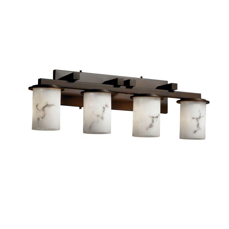 Justice design group fal 8774 10 dbrz dark bronze lumenaria 29 dakota 4 light bathroom vanity - Justice design group bathroom lighting ...