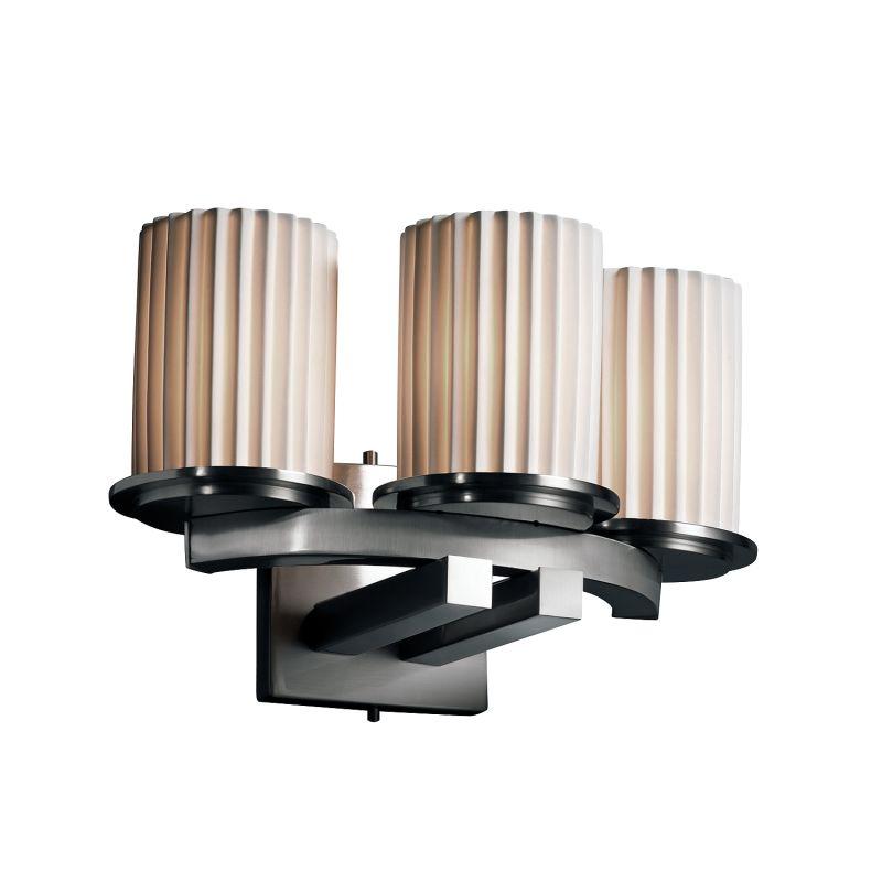 justice design group por 8776 10 plet nckl brushed nickel. Black Bedroom Furniture Sets. Home Design Ideas