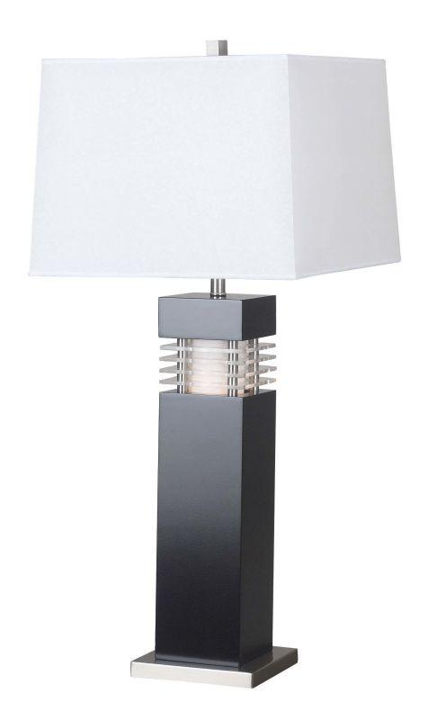 Kenroy Home 20109bl Black Wyatt 1 Light Table Lamp