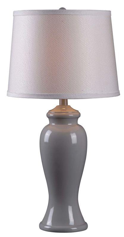 Kenroy Home 32256gry Gray Gloss Amelia 1 Light Table Lamp