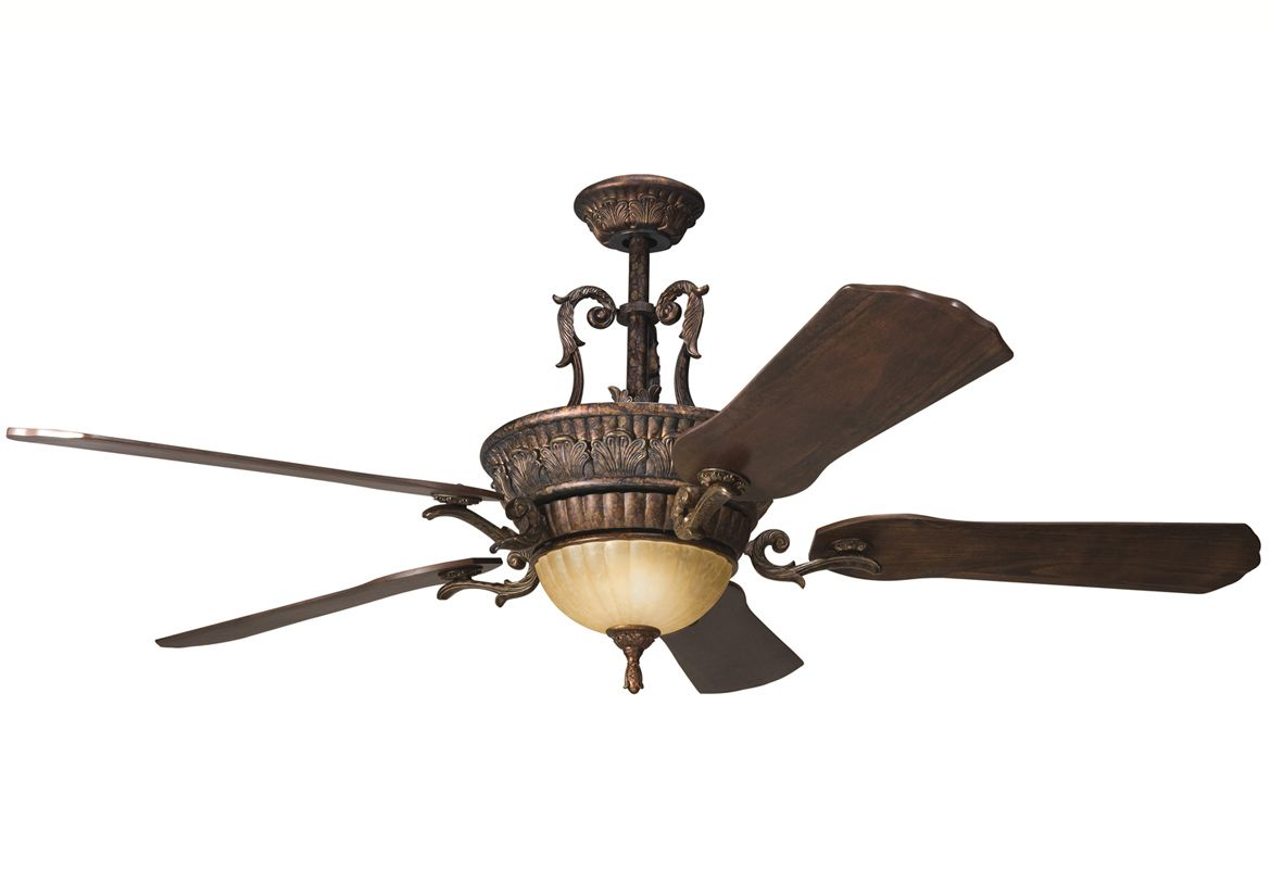 "Kichler 300008BKZ Berkshire Bronze 60"" Indoor Ceiling Fan with Blades ..."