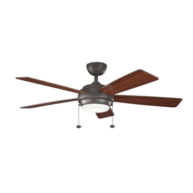 kichler 300173oz olde bronze 52 indoor ceiling fan with blades light. Black Bedroom Furniture Sets. Home Design Ideas