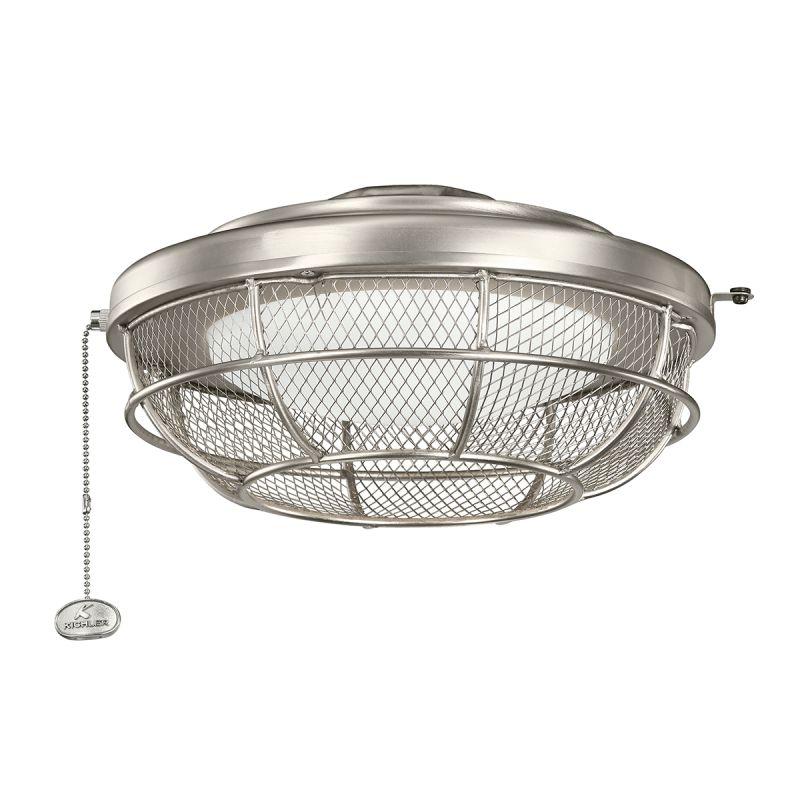 Kichler 370044NI Brushed Nickel Industrial Mesh Fan Light