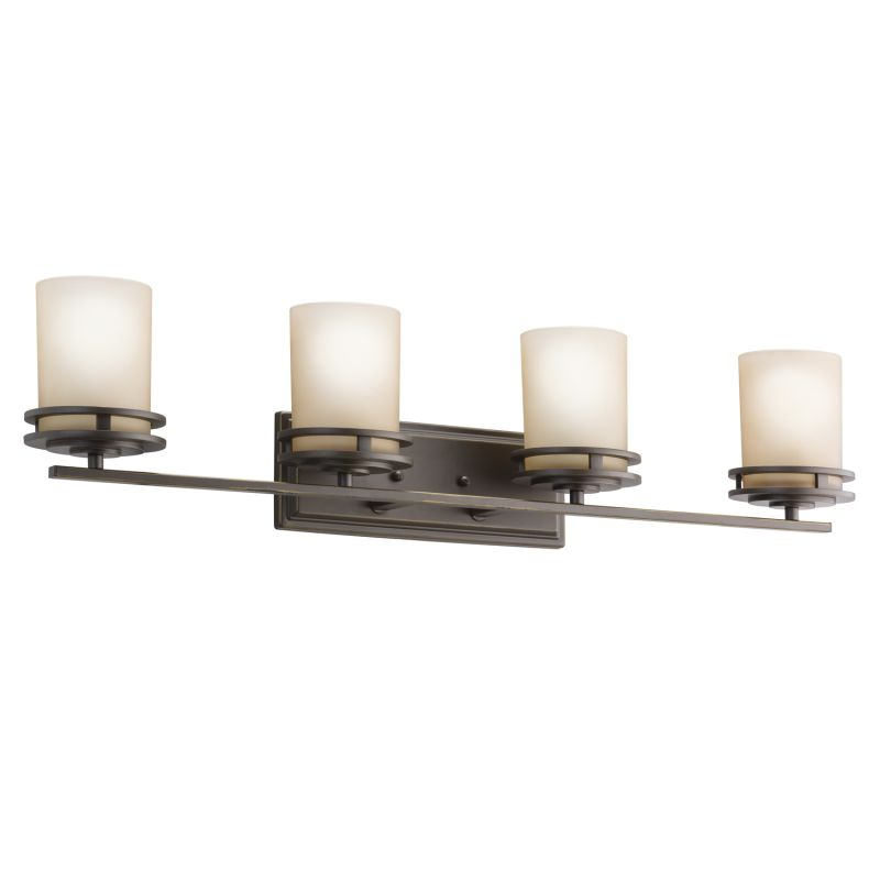 Kichler 5079oz olde bronze hendrik 4 light 34 wide vanity for 4 light bathroom fixture