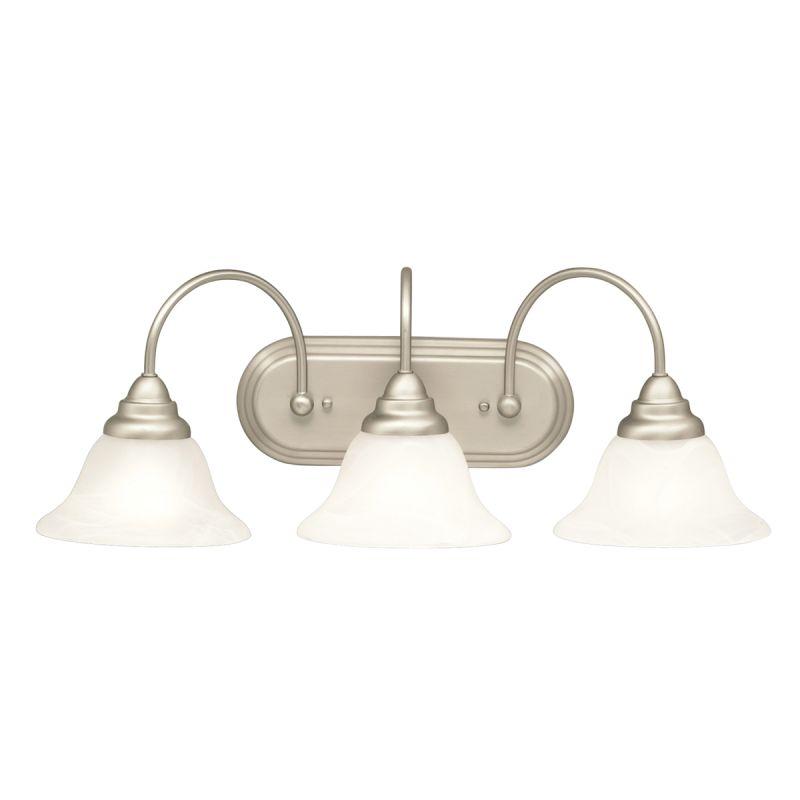 Kichler 5993ni Brushed Nickel Telford 25 Wide 3 Bulb Bathroom Lighting Fixture