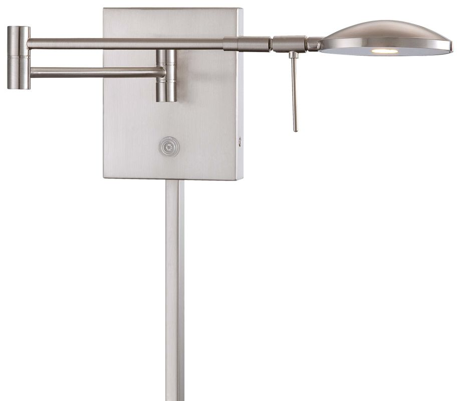 Wall Light Ideal Height : Kovacs P4338-084 Brushed Nickel 1 Light 6.25
