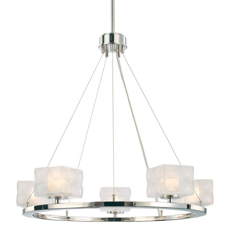 Kovacs Foyer Lighting : Kovacs p polished nickel light tier suspension