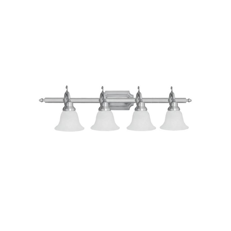 Livex Lighting 1284-91 Brushed Nickel French Regency 4 Light Bathroom Vanity Light ...