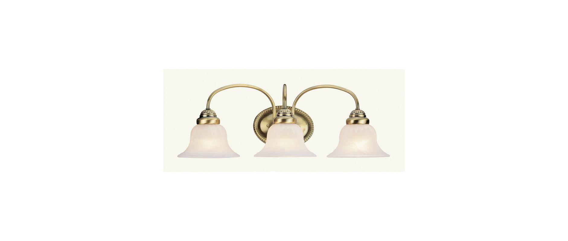 Livex Lighting 1533-01 Antique Brass Edgemont Bathroom