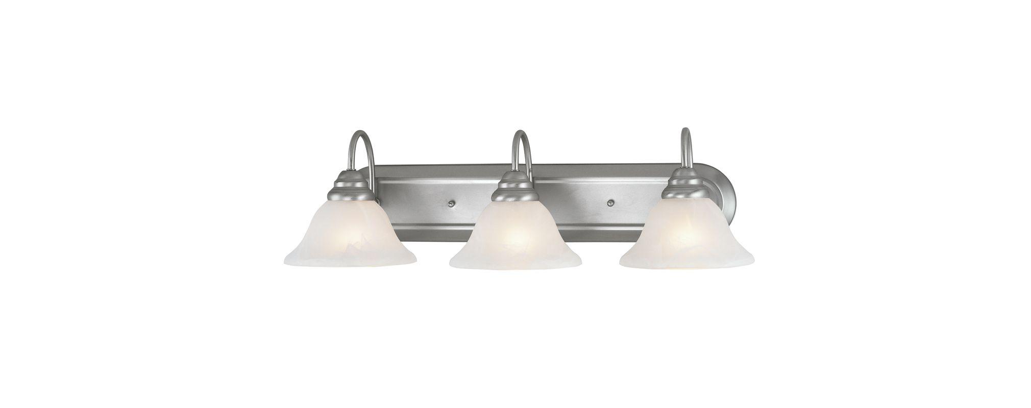 Livex Lighting 6113-91 Brushed Nickel Coronado 3 Light Bathroom Vanity Light - LightingDirect.com