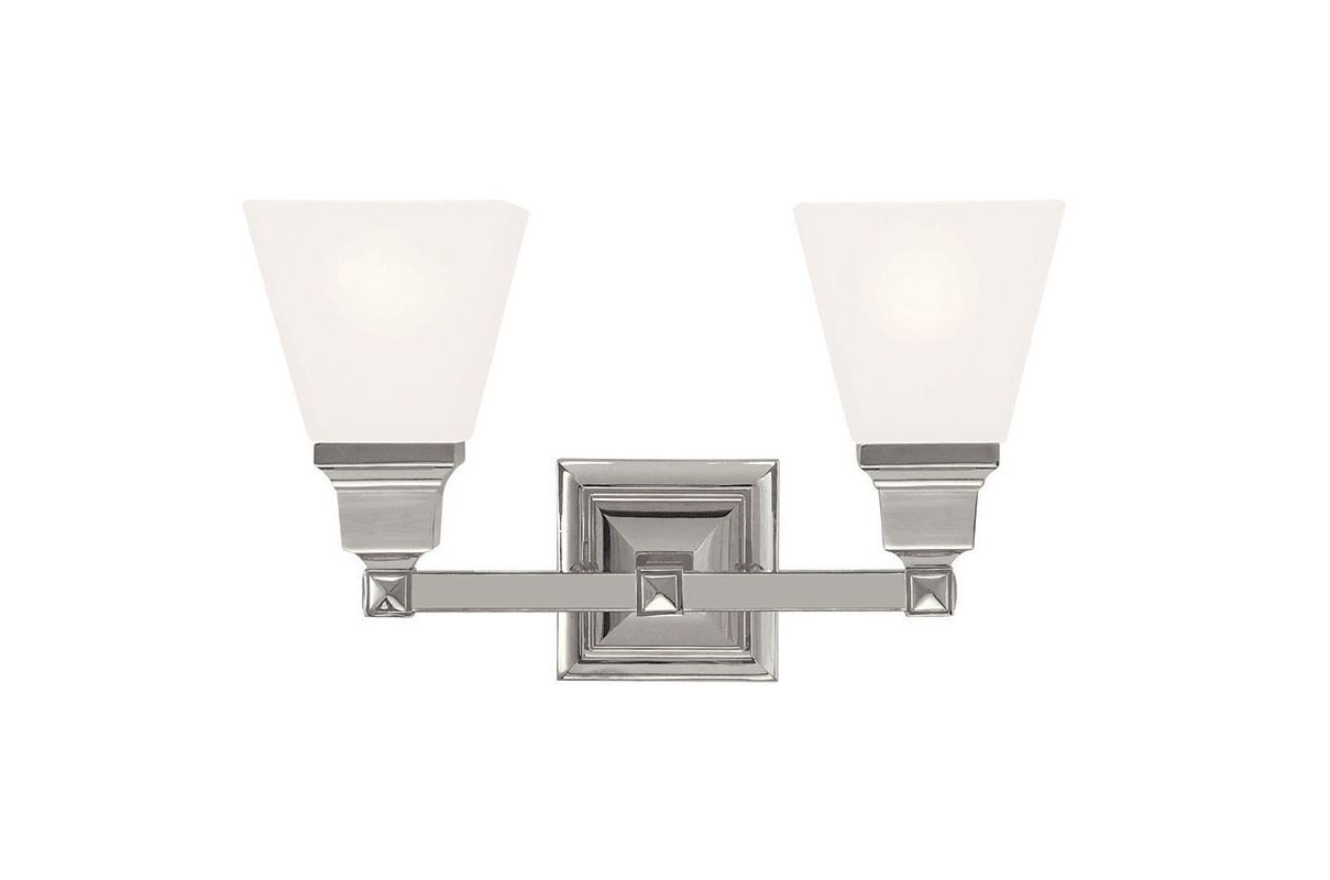 Vanity Lights Point Up Or Down : Livex Lighting 1032-35 Polished Nickel Mission 2 Light Bathroom Vanity Light - LightingDirect.com
