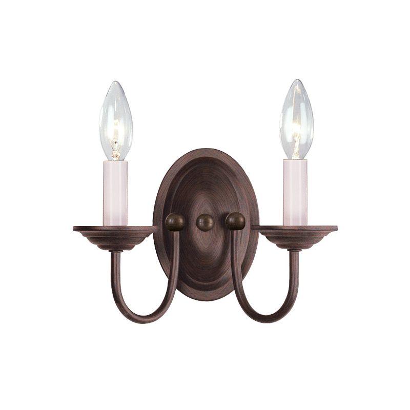 Livex Lighting 4152-58 Imperial Bronze Coronado 2 Light Wall Sconce - LightingDirect.com