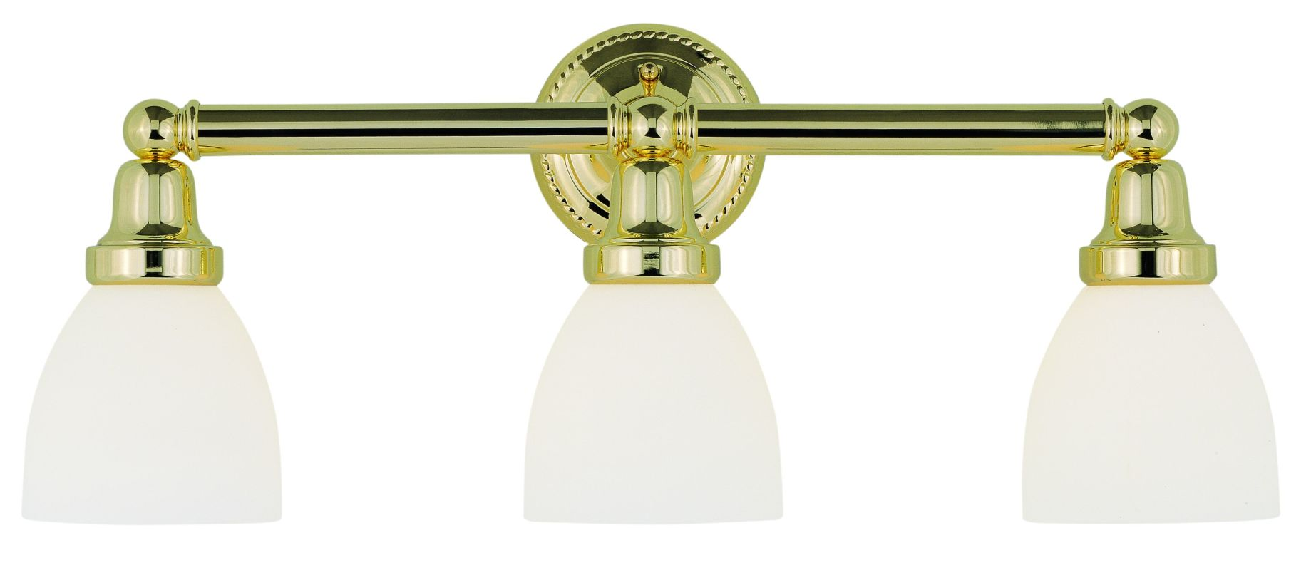 Livex Lighting 1023 02 Polished Brass Classic 3 Light Bathroom Vanity Light