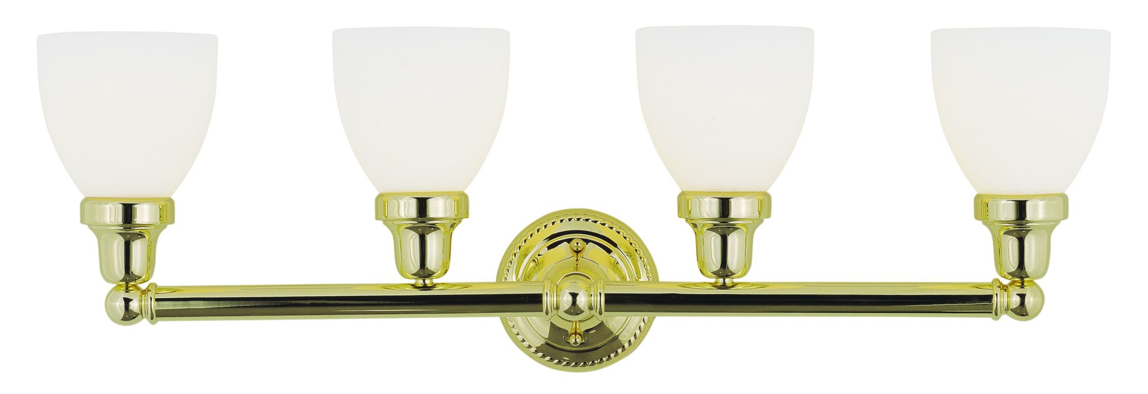 Livex Lighting 1024-02 Polished Brass Classic 4 Light