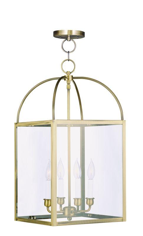 Livex Lighting 4042 01 Antique Brass 4 Light 240 Watt 12
