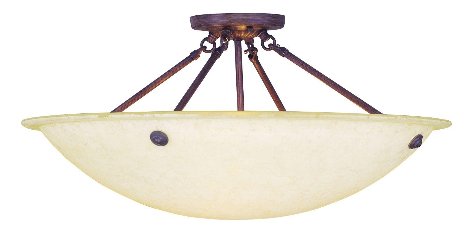 Livex Lighting 4275 01 Antique Brass Oasis 4 Light Semi