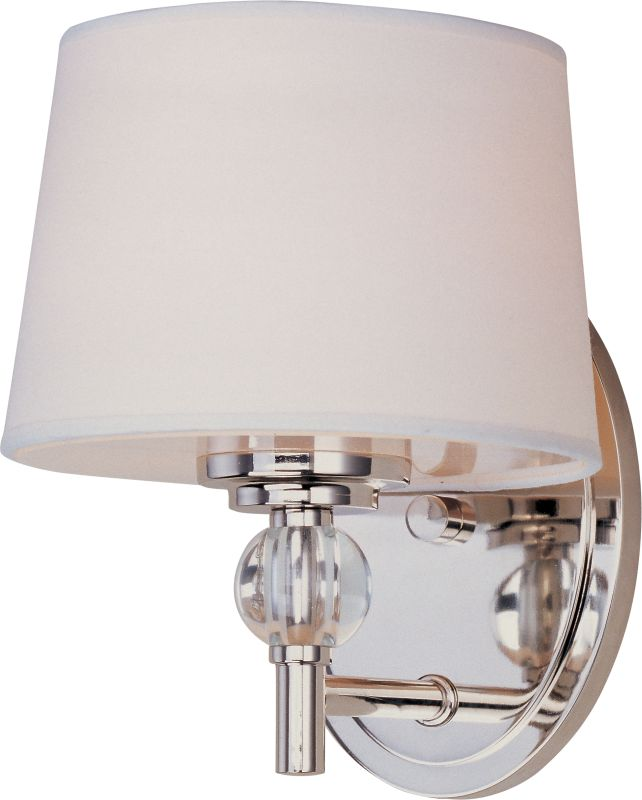 Can Vanity Lights Be Installed Upside Down : Maxim 12761WTPN Polished Nickel 1 Light 8.5