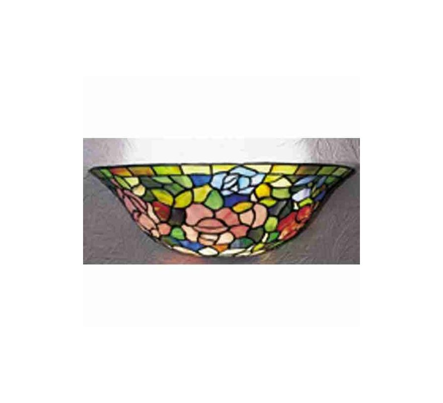 Meyda Tiffany 21124 Tiffany Glass Stained Glass / Tiffany Wall Washers Wall Sconce from the ...